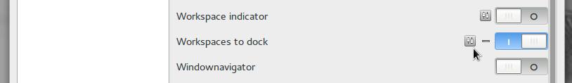 Workspaces to Dock Extension
