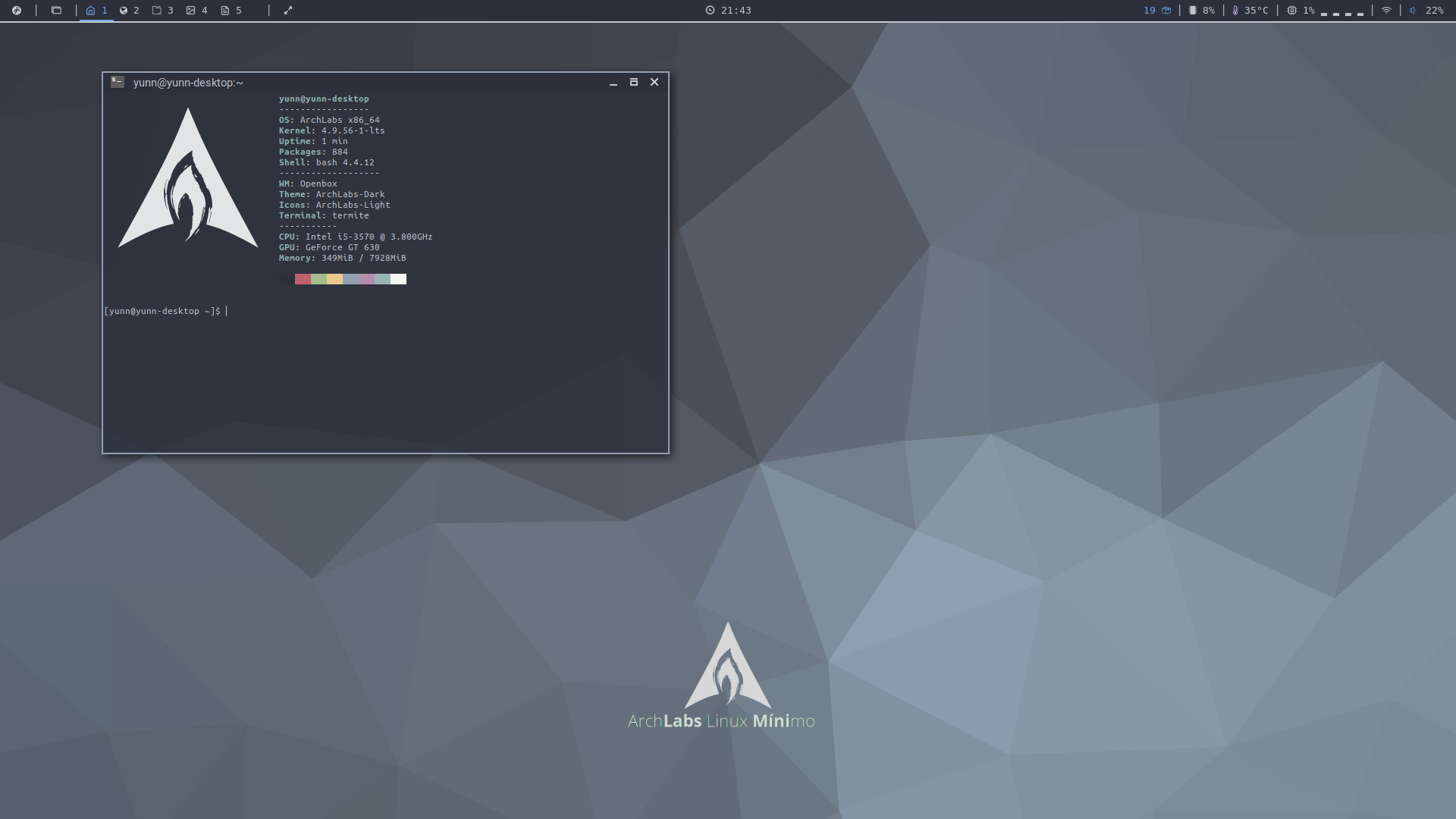 Released ArchLabs 2017.10 Minimo